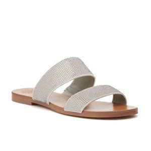 NWT Vince Camuto Rhondana Slide Sandal Light Gray